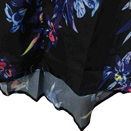 Chemise Automne Style Printemps Irrgulier Casual Haut Cou Confortable Top Mode Manches Blusen Spcial Fleur Blau Tops Motif V Femme lgant Longues wx4CqT