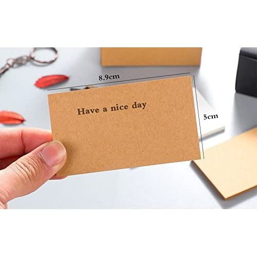 60OFF Outflower 100 Pcs Vierges En Papier Kraft Cartes De Visite Word Carte Message