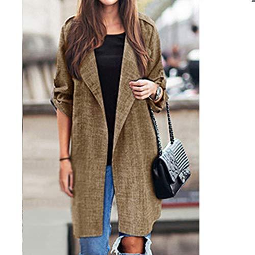 Taglia Xl Colori Casual Moda Cappotti Solido 5xl Inverno Colore Sei Donna Elegante Manica Cardigans Autunno Cappotto Cammello Lunga Soprabito Giacca Lungo PpPqaU6T