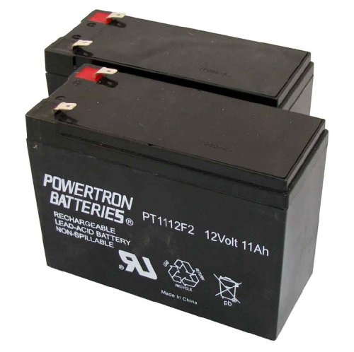 Powertron (2) 12V 11AH Electric Scooter Battery Schwinn M...