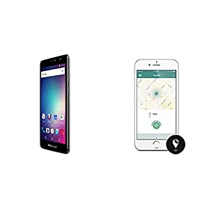"BLU Studio XL 2 -  6.0"" 4G LTE GSM Unlocked Smartphone - 4,900mAh Battery -Black and TrackR pixel Black"