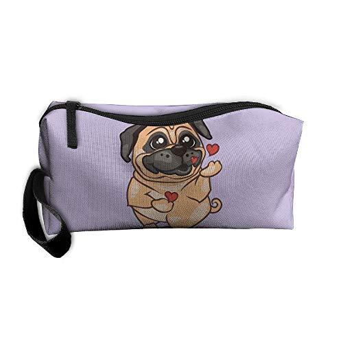 Jessent Coin Pouch English Bulldog Kisses Love U Pen Holder Clutch Wristlet Wallets Purse Portable Storage Case Cosmetic Bags Zipper (Cleansers Jessica)