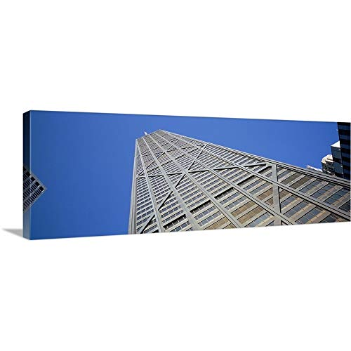 GREATBIGCANVAS Gallery-Wrapped Canvas Entitled Low Angle View of a Building, John Hancock Building, Chicago, Illinois by 90