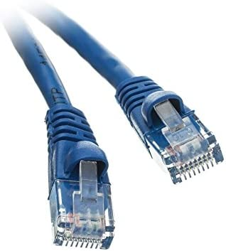Snagless//Molded Boot 4 Pack CNE504662 50 Feet CAT5E Ethernet Patch Cable Blue