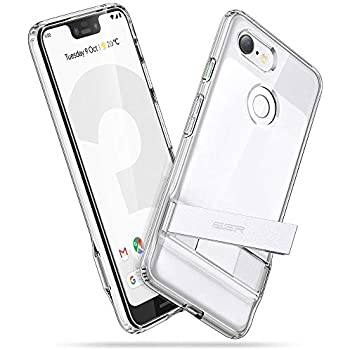 ESR Metal Kickstand Case Compatible with The Google Pixel 3 XL, [Vertical and Horizontal Stand] [Reinforced Drop Protection] Flexible TPU Soft Back Compatible with The Google Pixel 3 XL, Clear