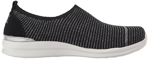Skechers Femmes Bobs Phresher-home Stretch Mode Sneaker Noir
