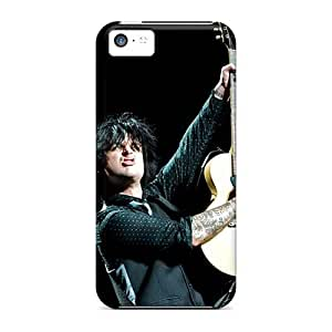 Protective Hard Phone Cover For Iphone 5c With Custom HD Green Day Pattern AlainTanielian