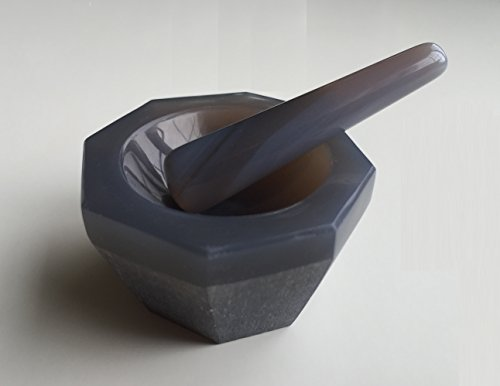 Agate Mortar and Pestle Standard Form, 40x30x10mm labware (Agate Mm 30)