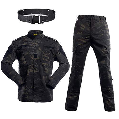 HAOYK Airsoft Paintball Combinaisons Tactiques Hommes Chasse Combat BDU Uniforme Veste Camo Chemise et Pantalon avec… 1