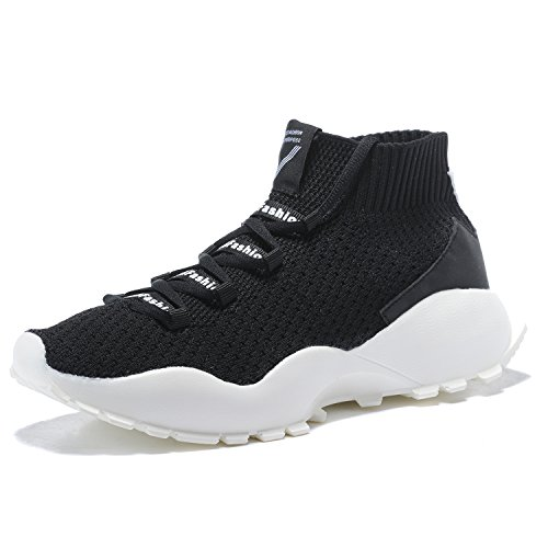 Sports Sneakers Shoes Breathable Running Mesh Soles Casual Black Men's MANTOONE Fashion Soft Lightweight IFxPfFOq