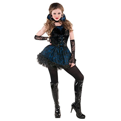 Amscan 841216 Teens Midnight Vampire Costume, Junior (3-5), Small, Black -