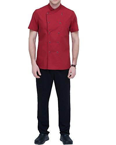 short sleeved chef coat - 6