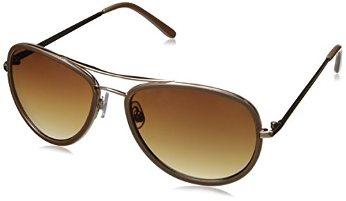 Adrienne Vittadini Women's AV3000-718 Aviator Sunglasses, Shiny Gold & Light Pearl, 59 - Adrienne Sunglasses Vittadini