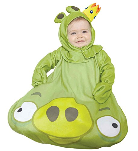 UHC Baby's Rovio Angry Bird Green King Pig Outfit Infant Halloween Costume, OS (0-9M)