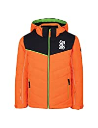 Dare2B Childrens/Kids Tusk II Jacket (5-6 Years) (Vibrant Orange/Ebony Grey)