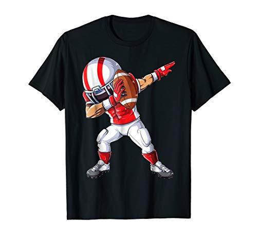 Dabbing Football T shirt Kids Boys Men Dab