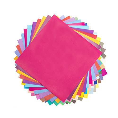 Caliart 50 Colors 100 Sheets Large Origami Paper 7.8-Inch by 7.8-Inch Single Sided Origami Sheets for Arts and Crafts Projects