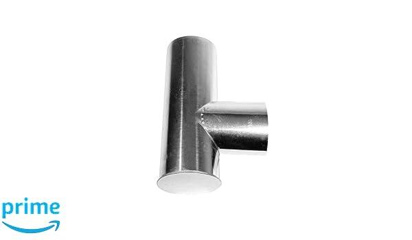 Kamino - Flam - Tubo T para chimenea (Ø 120 mm/longitud 310 mm), Tubo T para estufa de leña, Conducto de humos en forma T - acero resistente a altas ...