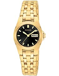 Pulsar Womens PXU030 Dress Gold-Tone Stainless Steel Watch