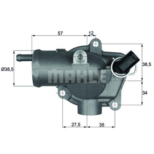 MAHLE Original TI 30 92 Thermostat, Kü hlmittel Mahle Aftermarket GmbH