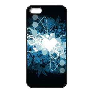 Modelo del corazón G5N45 funda del funda iPhone A9V0DV 5 5s teléfono celular cubren PP4NTR1MR negro