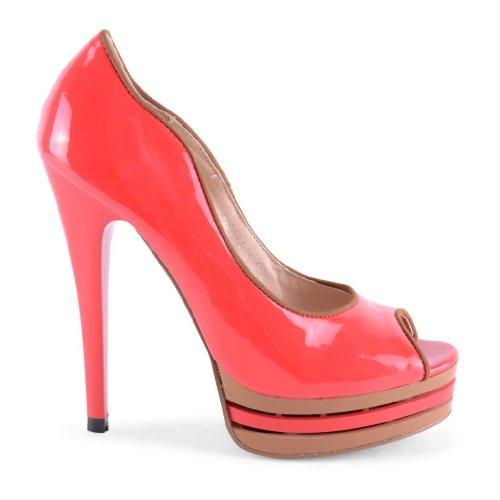 Footwear Sensation - punta abierta de sintético mujer Naranja - Dark Coral