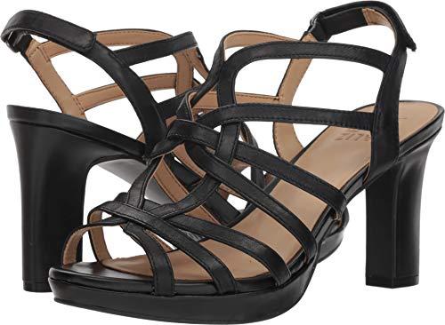 406 Leather Heeled Black Naturalizer Flora Women's Sandal aWX8EEYq7
