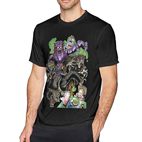 Lovevol Monster Cereal Count Chocula Franken Berry Boo Berry Men's Short Sleeve T-Shirt Funny Retro -