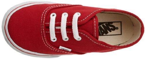 Vans K Authentic, Zapatillas Niño Rojo (Red)
