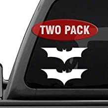 Batman Forever - 2 Pack of decal sticker for Car Window, Laptop, Motorcycle, Walls, Mirror and More.