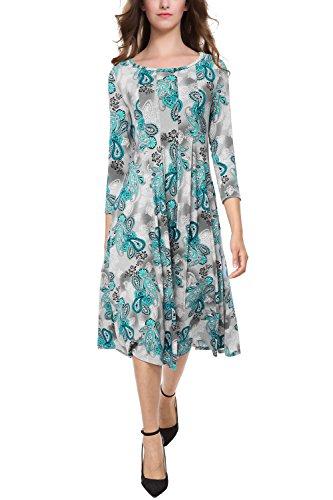 midi 3/4 sleeve dress - 6