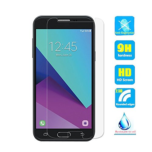 2pcs Clear Tempered Glass Crystal Screen Protector film for Samsung Galaxy J3 pro 2017 J330 SM-J330F/DS J330F J330FN J3300 J3 Duos 2017 Scratch Resist 9H Hardness