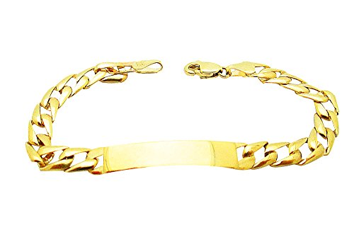 Kids Children 10k Yellow Gold Cuban Curb link ID Bracelet 6.0 inch, 5.5 g by US-Shopsmart