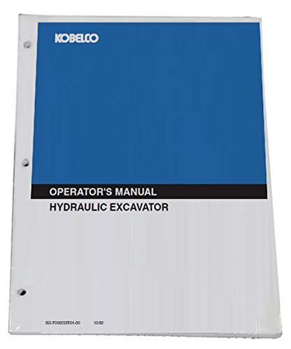 KOBELCO K916, K916LC Excavator Operator's Owners Operation & Maintenance Manual - Part Number # S2LS1001E - Excavator Parts Book
