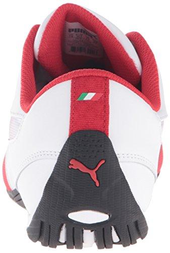 Puma Heren Drift Cat 5 Ferrari Lederen Sneaker Puma Wit / Rosso Corsa