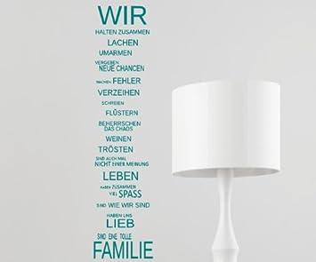 WIR sind eine Familie... - Spruch - Wandtattoo Aufkleber 92x24cm ...