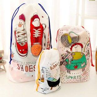 普段使い 旅行に 便利 シューズや バスルームの デザインが オシャレ 巾着袋 収納