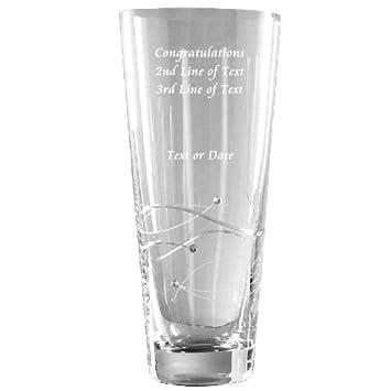 Gravure Personnalise Cristal Swarovski Vase En Verre Avec 3