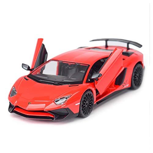 HBWJSH Modelo De Coche Deportivo 1:24 Simulación Estática De Aleación Modelo De Coche Adornos De Juguete Colección De Joyas Rojo 20x9.4x4.8 CM por HBWJSH