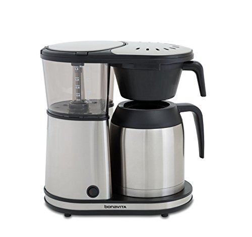 - Bonavita Connoisseur 8-Cup One-Touch Coffee Maker Featuring Hanging Filter Basket and Thermal Carafe, BV1901TS