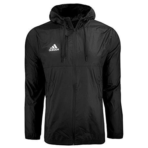 adidas Men's Essentials Hooded Wind Jacket, Black, Medium