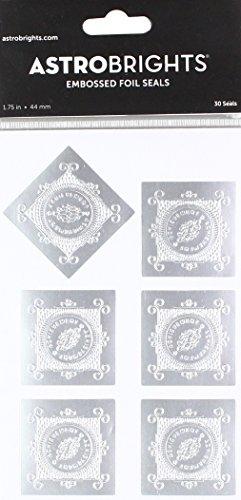 Astrobrights Embossed Foil Seals, 1.75