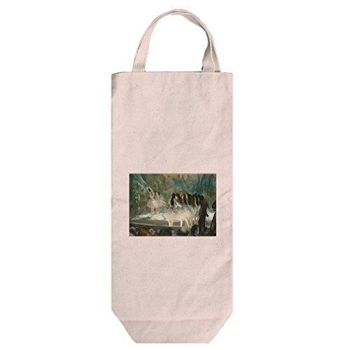 Ballet At The Paris Opera (Degas) Cotton Canvas Wine Bag Tote With Handles (Degas Bag Ballet)