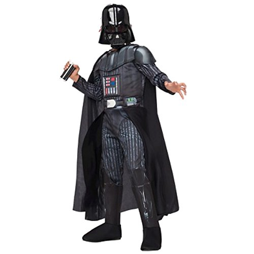 Boys Star Wars Deluxe Darth Vader Costume w/ Mask (Small)
