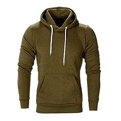 GOVOW Business Casual Shirts for Men Long Sleeve Autumn Winter Sweatshirt Hoodies Top Tracksuits