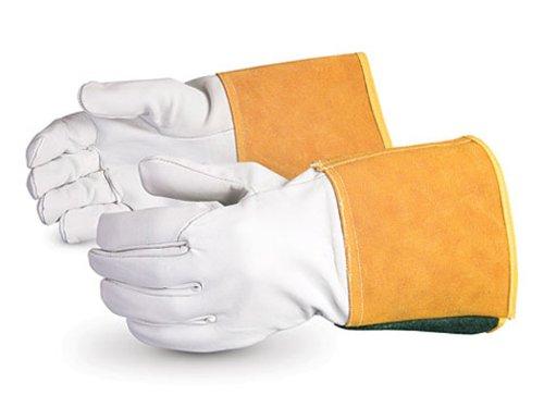 Superior 370CTIG Precision Arc Goatskin Leather TIG Welder Glove, Work, Small (Pack of 1 Dozen)