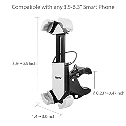 BESTEK Bike Phone Holder, Universal Hands Free Cell Phone holder Fits iOS Android Smartphone GPS other Devices, 360 Degrees Rotatable