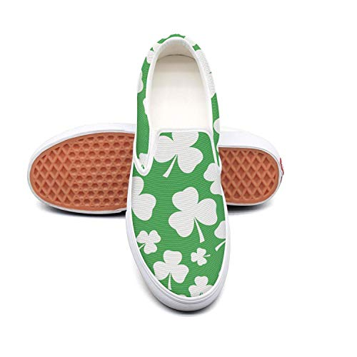 St Patricks shamrock white Sneaker Shoes for Women cute Skid-Proof Run Shoes -