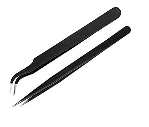 Vadda Bai Straight and Curved Tips Tweezers for Mobile/Gadget/Laptop and Jewelry Repair – Set of 2 Pieces Price & Reviews