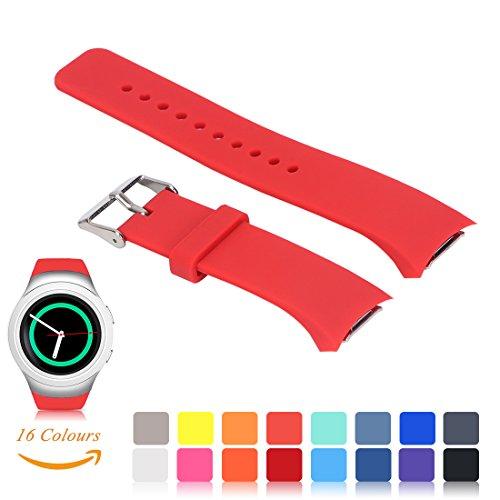 Silicone Watch Band for Samsung Galaxy Gear S2 SM-R720 (Black) - 5